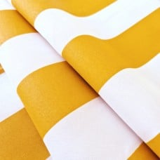 Vertical Stripe Outdoor Polyester Fabric in Yellow