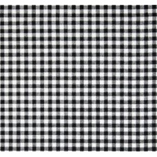 Check in White on Black Home Decor Fabric Small Fabric Traders