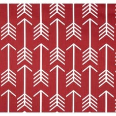 Arrows in White on Timberwolf Red Home Decor Cotton Fabric