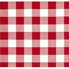 Check Home Decor Cotton Fabric in Red and White Fabric Traders