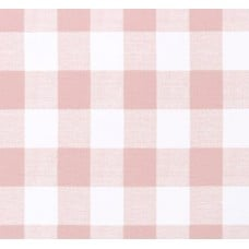 Check Medium Home Decor Cotton Fabric in Pink and White