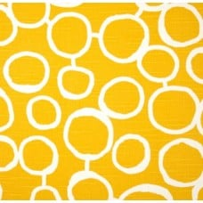 Scribble Freehand in Yellow Home Decor Cotton Fabric