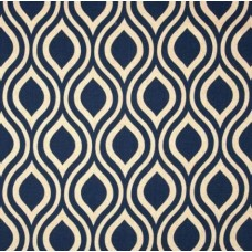 Hey Nicole Cotton and Rayon Blend Home Decor Fabric in Navy Oatmeal