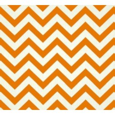 Chevron Zig Zag Cotton Home Decor Fabric in Mandarine Fabric Traders
