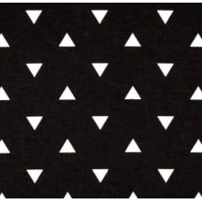 Triangle White on Black Home Decor Fabric