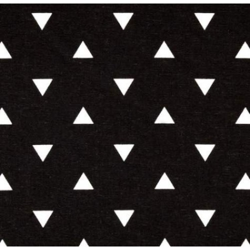 Triangle White On Black Home Decor Fabric Fabric Traders