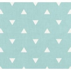 Triangle White on Mint Home Decor Fabric Fabric Traders