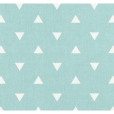 Triangle White on Mint Home Decor Fabric