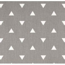 Triangle White on Grey Home Decor Fabric
