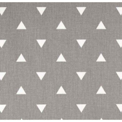 Triangle White On Grey Home Decor Fabric Fabric Traders