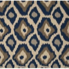REMNANT - Ikat in Indigo Home Decor Cotton Blend Fabric Fabric Traders