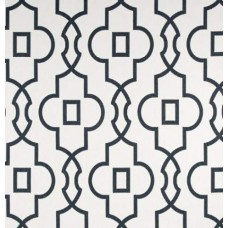 Bordeaux in Dark Grey and White Home Decor Cotton Fabric Fabric Traders