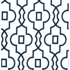 Bordeaux in Dark Blue and White Home Decor Cotton Fabric Fabric Traders