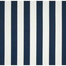 Canopy Stripe Navy and White Home Decor Cotton Fabric