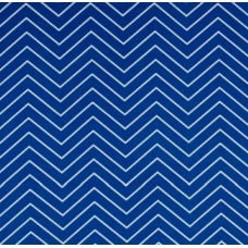 Chevron Zig Zag Fine Line Outdoor Fabric in Cobalt and White Fabric Traders