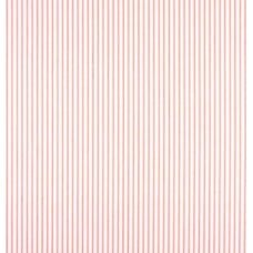 Ticking Stripe Cotton Fabric in Lipstick Fabric Traders
