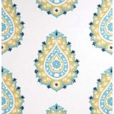 Damask Motif in Saffron Home Decor Fabric