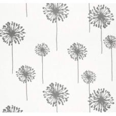 Dandelion Storm on White Home Decor Cotton Fabric