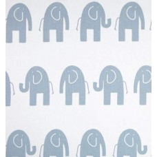 Ele Elephant Blue & White Home Decor Cotton Fabric