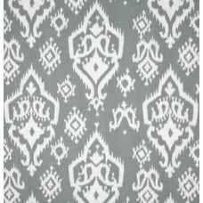 Ikat Home Decor Cotton Fabric in Grey Mist