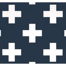 Swiss Cross Jumbo Home Decor Fabric in Dark Blue
