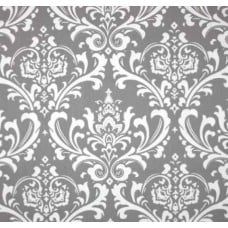 Osbourne Grey and White Home Decor Cotton Fabric Fabric Traders