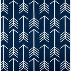 Arrows in White on Navy Home Decor Cotton Fabric
