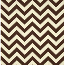 Chevron Stripe Outdoor fabric in Brown and Ivory
