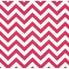 Chevron Zig Zag Home Decor Cotton Fabric Candy Pink and White