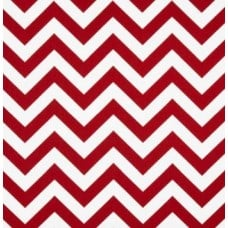 Chevron Zig Zag Lipstick Red Home Decor Cotton Fabric
