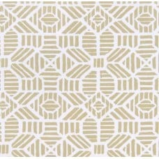 REMNANT - Ribble in Gold Cotton Home Decor Fabric