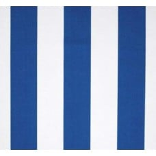 Stripe Outdoor Fabric Cobalt and White