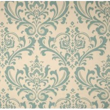 REMNANT - My Home Tradition in Dusted Blue and Natural Home Decor Cotton Fabric
