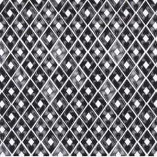 Diamond Repeat Cotton Home Decor Cotton Fabric in Black
