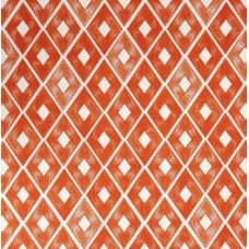 Diamond Repeat Cotton Home Decor Fabric in Orange