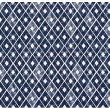 Diamond Repeat Cotton Home Decor Cotton Fabric in Indigo