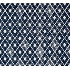 Diamond Repeat Cotton Home Decor Cotton Fabric in Navy Fabric Traders