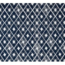Diamond Repeat Cotton Home Decor Cotton Fabric in Navy
