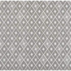 Diamond Repeat Cotton Home Decor Cotton Fabric in Grey