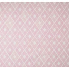 Diamond Repeat Cotton Home Decor Fabric in Pink