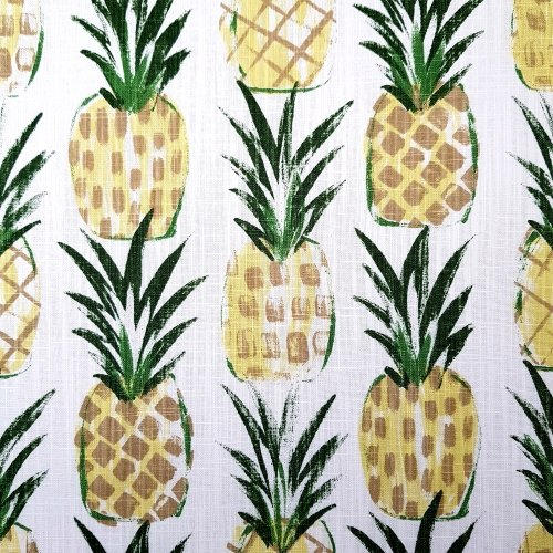 Pineapple Tropics Cotton Home Decor Cotton Fabric On White Fabric Traders