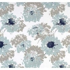 Vintage Floral Home Decor Fabric in Blue and Grey Fabric Traders