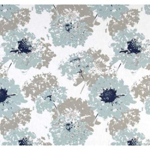 Vintage Floral Home Decor Fabric In Blue And Grey Traders