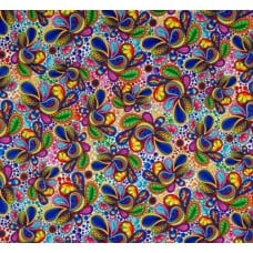 Paisley Allover Designer Cotton Fabric in White Fabric Traders