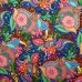 Floral Geometric on Black Cotton Fabric Designed By Debi Payne Fabric Traders