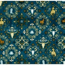 Western Treasures Cotton Fabric in Teal
