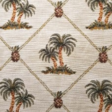 Jacquard Tropical Palms and Pineapple Luxe Home Decor Fabric