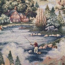 Jacquard Cottage In The Forest Luxe Home Decor Fabric