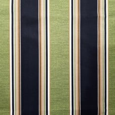 Stripe Indoor Outdoor Fabric in Green and Black