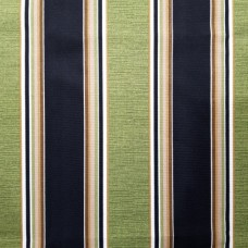 Stripe Indoor Outdoor Fabric in Green and Black Fabric Traders